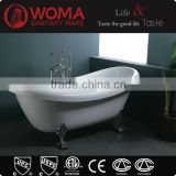 High Quality America Standard Enameled Freestanding Deep Cast Iron Bathtub Q119