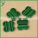 Good quality cheap price rough four leaf clover flower cut loose green malachite gemstone for jewelry marking