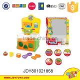 Plastic education kitchen toy set,kid table ware,fun cooking play toy.