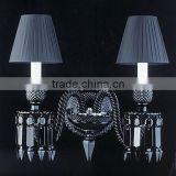 French baccarat black crystal lamps wall mounted