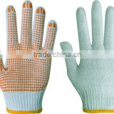 cheap andhot seling pvc dotted gloves 10 guage point bead cotton glove for industril using,resist cutting