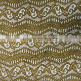 beautiful cord polyester lace fabric factory wholesale