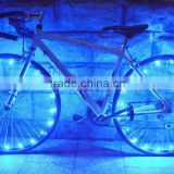 DIHAO 2015 New 20 LED Bicycle Bike Wire Tyre Wheels Spoke Light String Wire Colorful 2.2M
