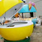 fiberglass fruit kiosk/food kiosk/orange kiosk