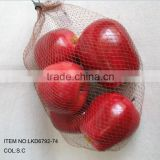 2015 New Artificial Fake Fruits Artificial Polyfoam Apple Packed in Plastic Gift bag House Decoration