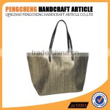 New high quality paper straw bag with polyester beach handbag                                                                         Quality Choice