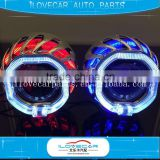 Wholesale universal hign quality led crystal angel eyes projector lens auto headlight