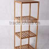 Modern bamboo storage rack furniture home display shelf