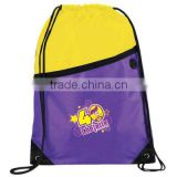 Low price custom 210D polyester drawstring bag promotional 210T polyester drawstring bag backpack                                                                         Quality Choice