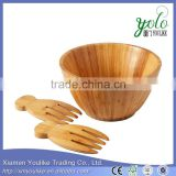 Large Round Deep Eco-friendly Lightweight Bamboo Salad and Fruit Bowl                                                                         Quality Choice