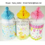 Cute Nursing Bottle design Paper Honeycomb for Baby Shower Party Decoration