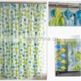 new design and luxury Fishes Design PEVA Shower Curtain with resin hooks