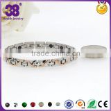 Rose-silver plated magnet bracelet with health germanium of jewelry bracelet girls jewelry