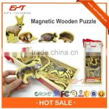 Hot selling non toxic magnetic wooden blocks for sale