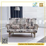 New model home furniture fabric folding sofa cum bed with bent armrests