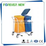 YXZ-016C hospital cleaning stainless steel trolley covered