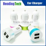 2.1A/1A aluminium alloy one to two car charger for Apple Iphone/Ipad and Android phone/Tablet