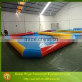 Durable customized size pvc inflatable pool for balls and boats/inflatable blue water pool