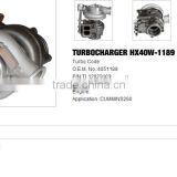 HX40W-1189 Turbo charger /Turbocharger for cummin 260