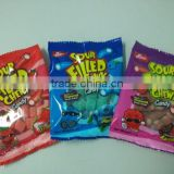22g sour filled chews candy fruit flavors oem