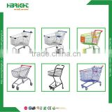 Cheap price grocery used shopping cart dimensions metal supermarket shopping trolley for sale