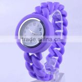Twisted band silicone watch braided band silicone watch