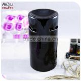 black glossy glaze ceramic oil burner desktop