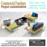Free style modern simple stainless steel on sale fabric sofa high fashion project furniture office living room sofa