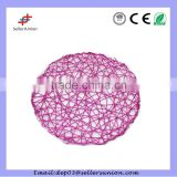 38cm round Wholesale vinyl pp placemats for restaurant