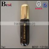 7ml hot products cosmetics perfume tube glass roll bottle hot stamping dark brown painting bullet shape roll on glass bottle