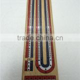Wooden Cribbage with 3 tracks
