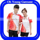 OEM service unisex tennis clothing,high quality clothing and wholesale badminton sets