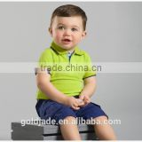 100% cotton custom design kids t-shirt wholesale baby polo t-shirt