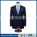 Top brand formal coat pant men suit with dark blue men's blazer 10 years experience SGS and BSCI