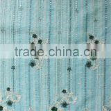 African mint green 3d flower embroidered mesh lace dress fabric