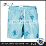 MGOO Foshan Manufacturer Custom Sublimation Print Mens Boardshorts Swimwear Mesh Inside DrawString Elastane Waistband