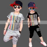 children's clothing boy short sleeve summer children suits the new 2016 baby clothing sets