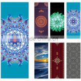 GIFT IDEAS Heathyoga Yoga Towel, Exclusive Corner Pockets Design 100% Microfiber Yoga Mat Towel for Hot Yoga, Pilates and Fitnes