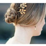 Fashion Hair accessories gold leaf hair clip