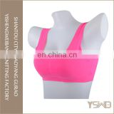 Custom made silk breathable push up plain fashionable sport bra women