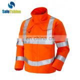 High visibility OEM service red reflective winter jackets