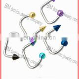 Fashion hot selling bending lip ring body piercing jewelry