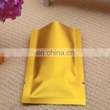 factory manufacture customized gold Aluminum Foil bag for medicine/cosmetic mask packaging with tear notch
