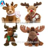 OEM good quality popular design stuffed plush deer toys soft animal toys