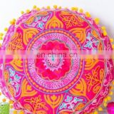 Fabric Embroidery Design Mexican Style Round pillow Cushion Cover