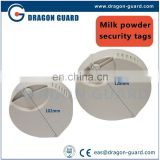8.2MHz/58KHz EAS vega tag for milk powder can,Milk safer tags, small milk can safer