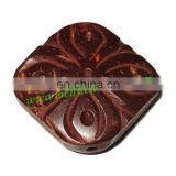 Handmade coconut shell beads, size : 30x32x10mm BWCCN011