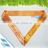 thermal transfer cheap but excellent cloth medal ribbon lanyards for celebration