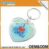 Custom photo keyring for new year deceration gift