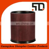 Best Price Leather Waste Bin Hotel Room, Mini Garbage Can